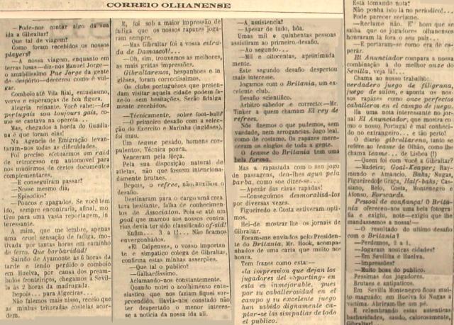 """""""Correio Olhanense"""" Nº 50, de 16 de Novembro de 1922"""