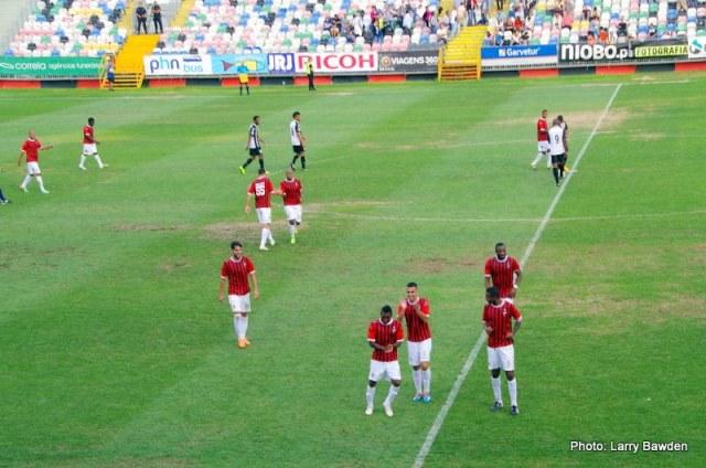 A alegria do jovem Gonzalez Prado no segundo golo