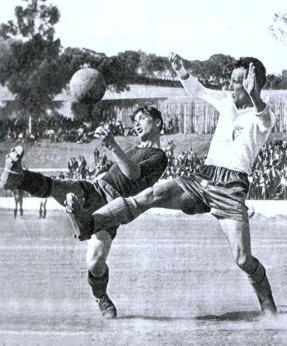 Fernando Cabrita em acção na Tapadinha nos anos quarenta