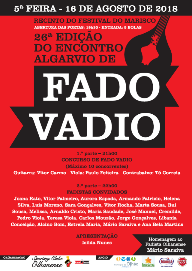 cartaz fado vadio 2018